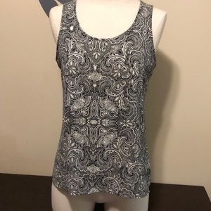 Black and White paisley Express sleeveless shirt